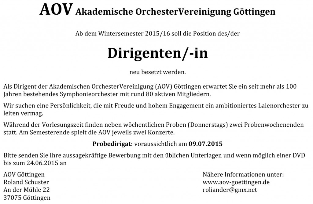 AOV Dirigentenanzeige
